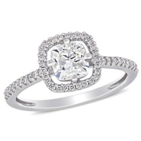 Allura 1.17 CT. T.W. Diamond Halo Engagement Ring in 14k White Gold