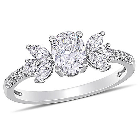 Allura 1.14 CT. T.W. Diamond Engagement Ring in 14k White Gold