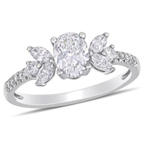 Allura 1.12 CT. T.W. Diamond Engagement Ring in 14k White Gold