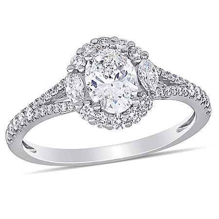 Allura 1.13 CT. T.W. Diamond Engagement Ring in 14k White Gold