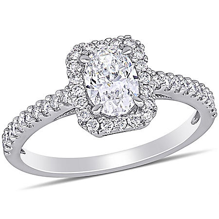 Allura 1 CT. T.W. Diamond Halo Engagement Ring in 14k White Gold
