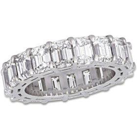 Allura 8.33 CT. Emerald-Cut Diamond Eternity Ring in 18K White Gold