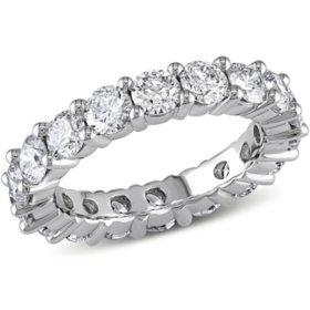 Allura 3 CT. Diamond Eternity Anniversary Ring in 14K White Gold