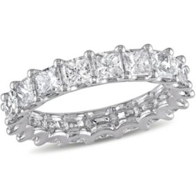 Allura 3.28 CT. Princess-Cut Diamond Eternity Ring in Platinum