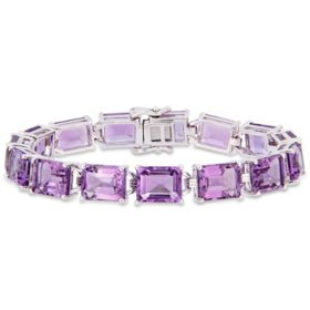 45 CT. T.G.W. Amethyst Tennis Bracelet in Sterling Silver