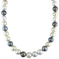 """Allura 11-12.8 mm Multi-Color South Sea and Tahitian Cultured Pearl Necklace in 14K Yellow Gold, 18"""""""