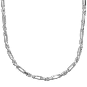 Italian Sterling Silver Tuscany Rope Chain Necklace, 24""