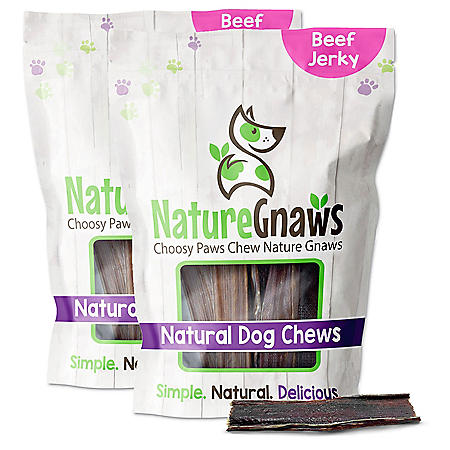 "Nature Gnaws Beef Jerky Chews, 4-5"" Length (40 ct.)"