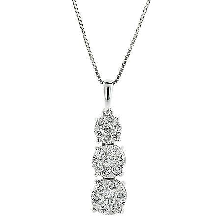 0.71 CT. T.W. Diamond Pendant in 14K White Gold