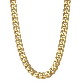 8MM Semisolid Cuban Chain in 14K Gold