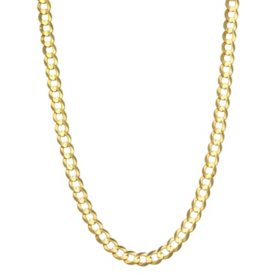 5MM Solid Curb Chain in 14K Yellow Gold