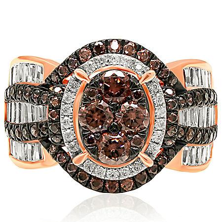 1.95 CT. T.W. Diamond Ring in 14K Rose Gold