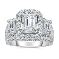 3.95 CT. T.W. Diamond Ring 14K White Gold