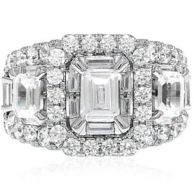 3.95 CT. T.W. Diamond Ring 14K White Gold