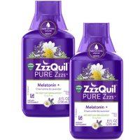 Vicks ZzzQuil Pure Zzzs Liquid, Melatonin + Chamomile and Lavender (8 fl., oz., 2 pk.)
