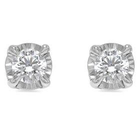 Diamond Stud Earrings in 14K White Gold (H-I, I1)