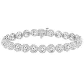 10.00 CT. T.W. Diamond Frame Line Bracelet in 14K Gold