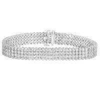 7.00 CT. T.W. Diamond Four-Row Line Bracelet in 14K Gold