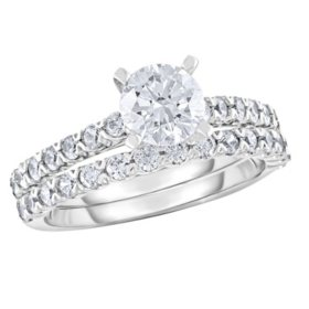 1.87 CT. T.W. Diamond Bridal Engagement Ring Set in 14K Gold