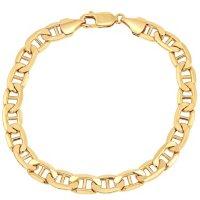 "7.9MM Mariner Link Men's Bracelet in 14K Yellow Gold, 9"""