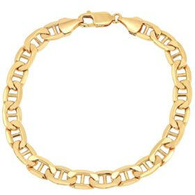 7.9MM Mariner Link Men's Bracelet in 14K Yellow Gold, 9""