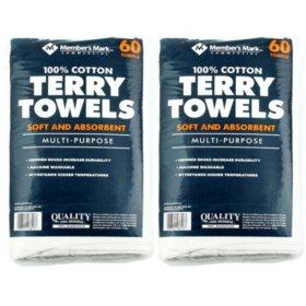 Member's Mark Terry Towels (2pk, 120ct.)