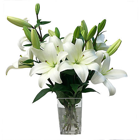 LA Hybrid Lily, White (choose 40 or 90 stems)