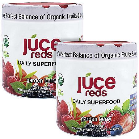 JUCE Reds Daily Superfood, Garden Berry (8.01 oz., 2 pk.)