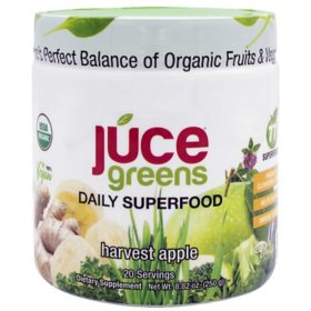 JUCE Greens Superfood, Harvest Apple (8.01 oz., 2 pk.)