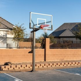 Lifetime Mammoth Bolt Down Basketball Hoop (60-Inch Tempered Glass)