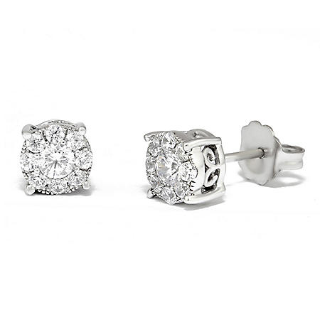 0.50 CT. T.W. Unity Diamond Stud Earring in 14K White Gold