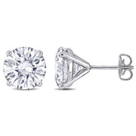5 CT. T.G.W. Created White Moissanite Solitaire Stud Earrings in 14k White Gold