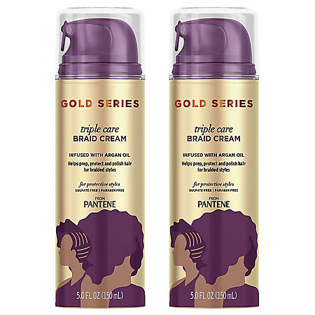 Pantene Gold Series Triple Care Braid Cream with Argan Oil (5 fl., oz. 2 pk.)