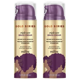 Pantene Gold Series Triple Care Braid Cream with Argan Oil (5 fl., oz. 2 pk.)