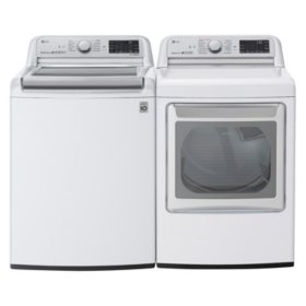 LG 5.5 cu.ft. Top Load Washer & 7.3 cu. ft. Dryer - White