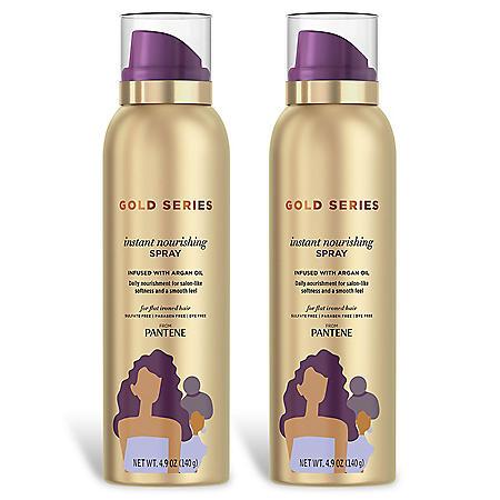 Pantene Gold Series Instant Nourishing Spray with Argan Oil (4.9 oz., 2pk.)