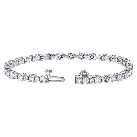 S Collection 4.0 CT. T.W. Diamond Tennis Bracelet in 14K White Gold