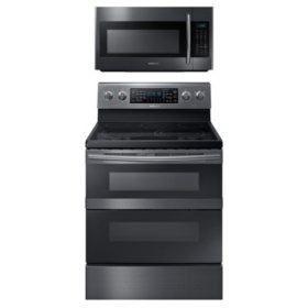 Samsung Cooking Bundle with 5.9 cu. ft. Flex Duo™ Range in Black Stainless Steel