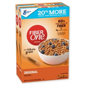 Fiber One Cereal, Original Bran (32.4 oz, 2 pk.)