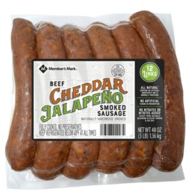 Member's Mark Cheddar Jalapeno Smoked Beef Sausage (12 links)