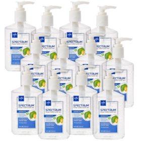 Medline Spectrum Advanced Hand Sanitizer Gel Hand-Pump Bottles (12 ct., 8 oz. each)