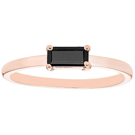 Onyx Baguette Ring in 14K Gold