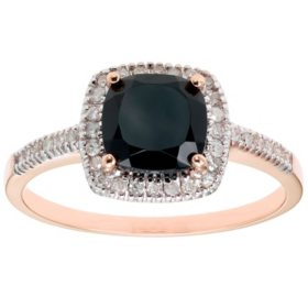 Onyx and 0.18 CT. T.W. Diamond Ring in 14K Gold
