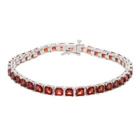13.68 CT. T.W. Garnet Bracelet in Sterling Silver