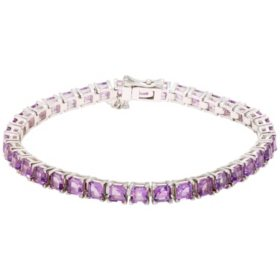 9.8 CT. T.W. Amethyst Bracelet in Sterling Silver