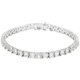 12 CT. T.W. Lab White Sapphire Bracelet in Sterling Silver