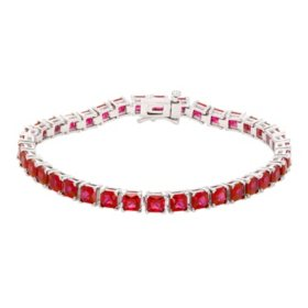 12 CT. T.W. Lab Ruby Bracelet in Sterling Silver