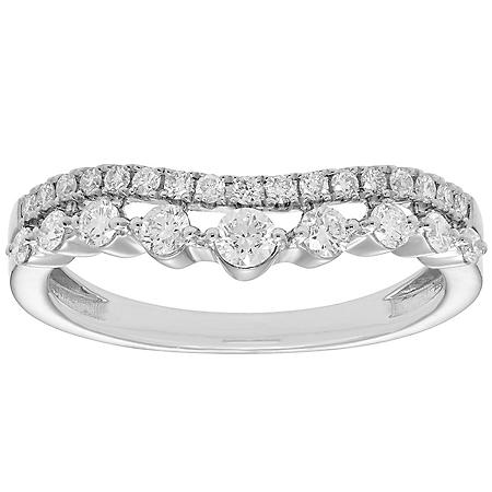 0.50 CT. T.W. Diamond Curved Band in 14K Gold (I, I1)