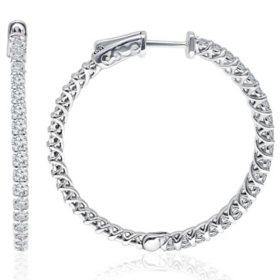 1.95 CT. T.W. Diamond Earrings in 14K White Gold