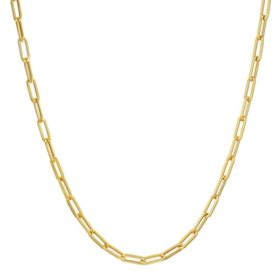 14K Yellow Gold Small Link Paperclip Chain, 20""